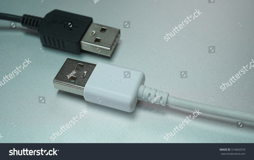 medium resolution of cable usb connector electronic component to connection two usb port black and white color