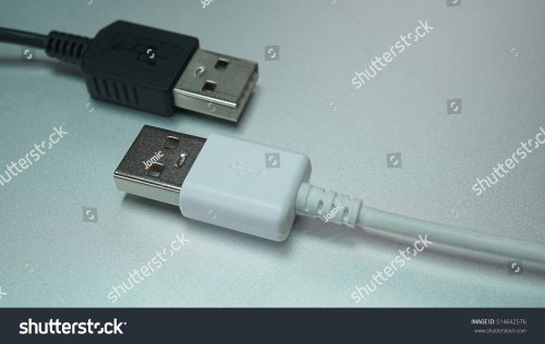 small resolution of cable usb connector electronic component to connection two usb port black and white color