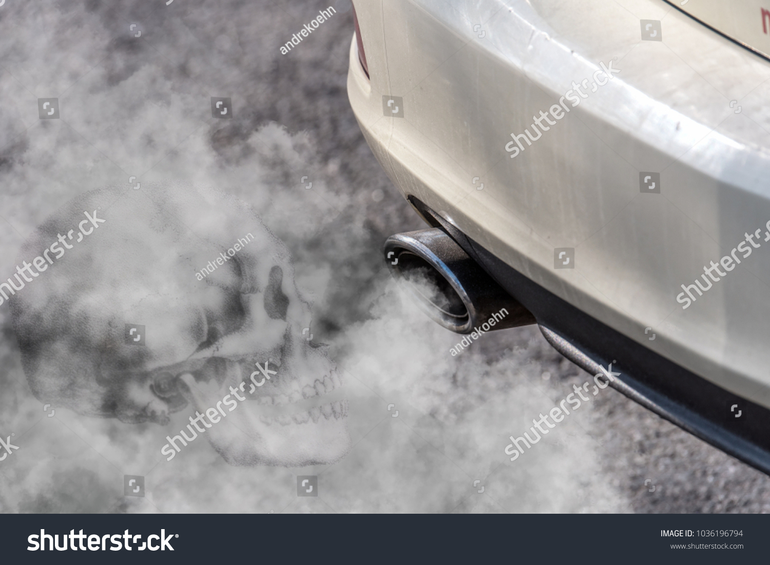 https www shutterstock com image photo car exhaust pipe coming out diesel 1036196794