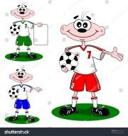 cartoon boy wearing football