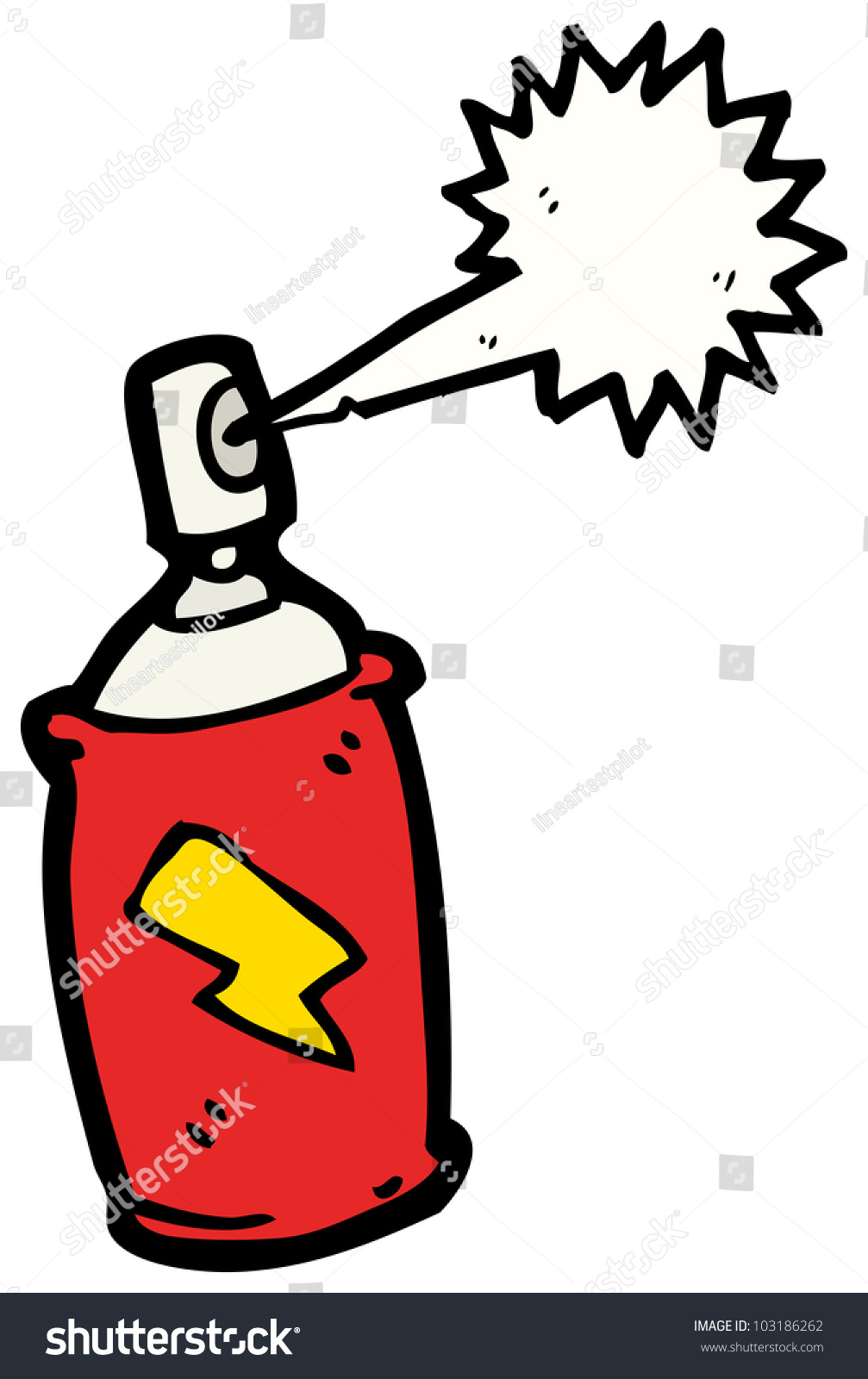 Cartoon Paint Spray Can Stock Photo 103186262 Shutterstock