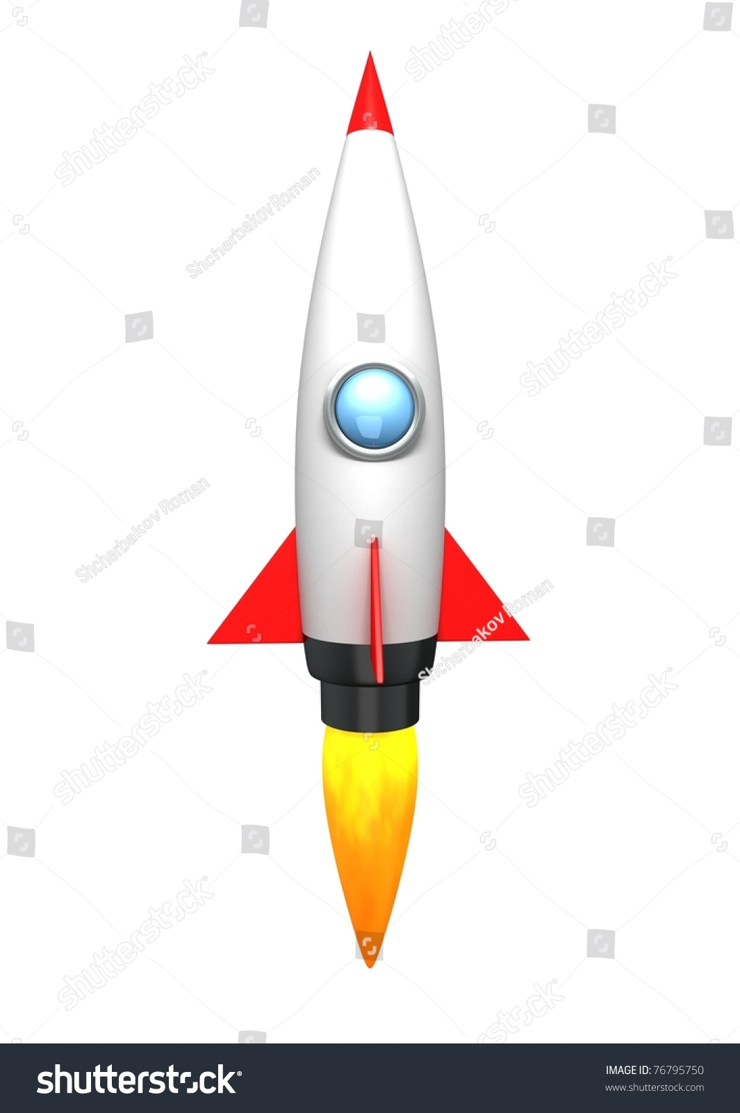 Cartoon Rocket Stock Illustration