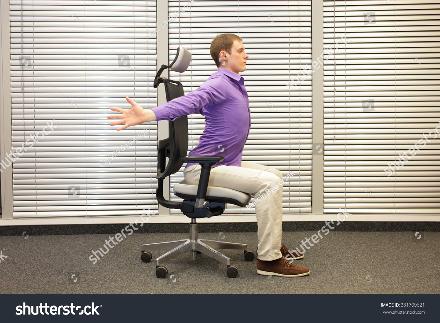 chair for office healthy white ikea caucasian man exercising on stock photo