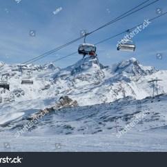 Ski Chair Lift Wedding Covers Bournemouth Skiing Swiss Alps Stock Photo 8223652
