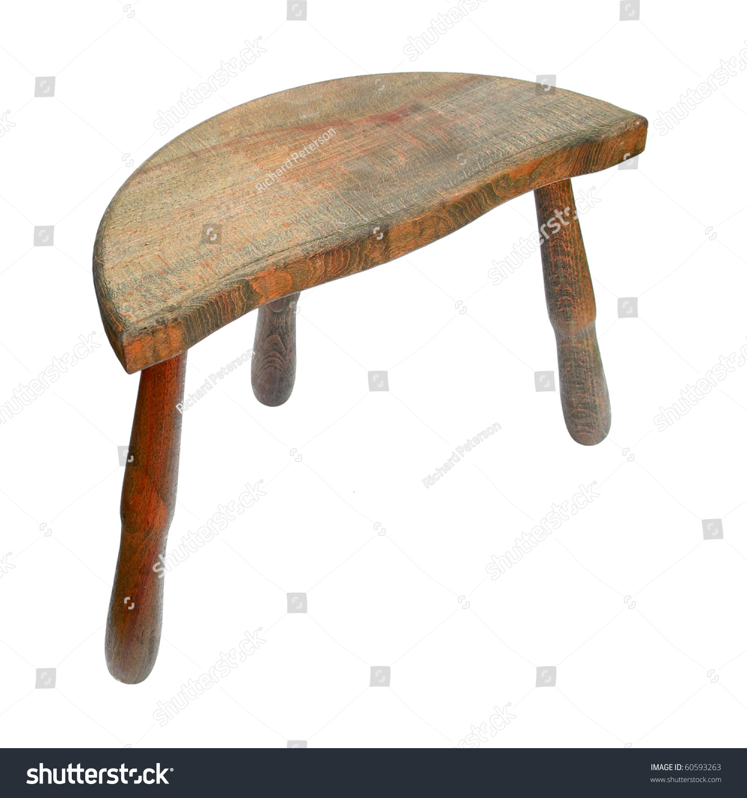 stool chair photography how to make a wing slipcover wooden with three legs stock photo 60593263