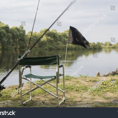 Fishing Chair Add Ons Saucer Cover With Accessories On The River Bank Pripyat