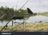 Chair With Fishing Accessories On The River Bank Pripyat ...