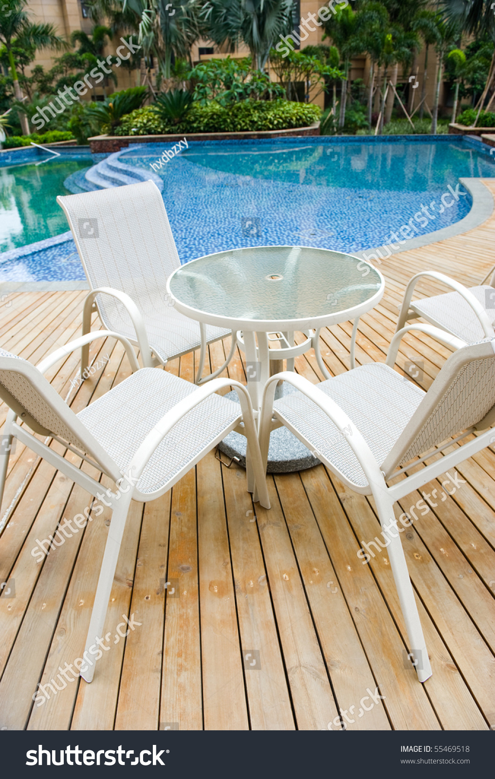 Chairs For Pool Chairs Tables Next Swimming Pool Stock Photo Edit Now 55469518