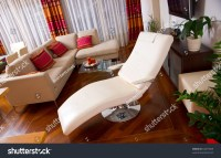 Chez Lounge Modern Living Room Interior Stock Photo ...