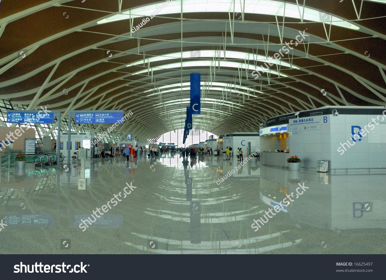 China Shanghai Pudong International Airportnew Terminal Stock Photo 16625497 - Shutterstock