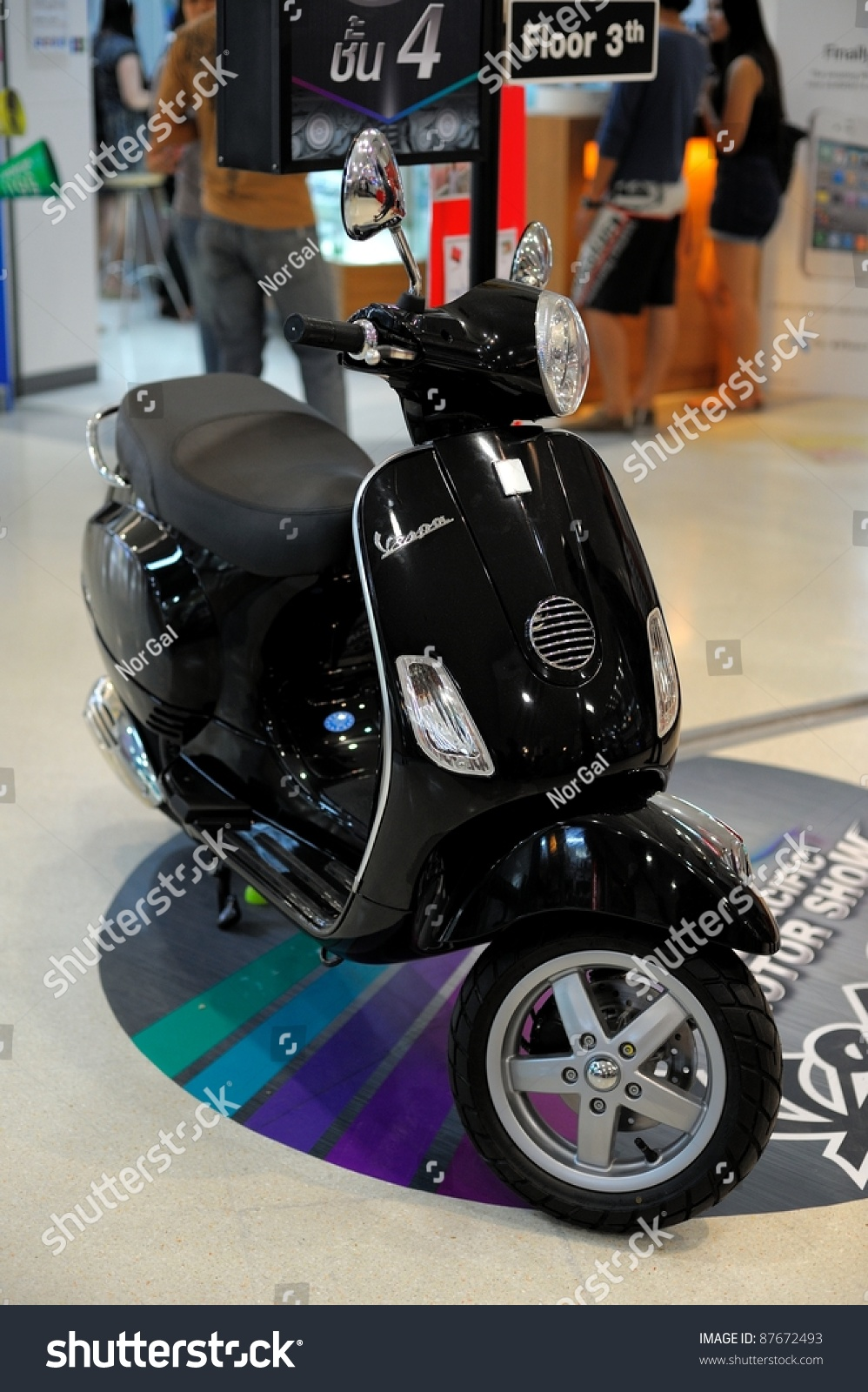 medium resolution of chonburi thailand october 29 the vespa lx150 at 14th pacific motor show fast