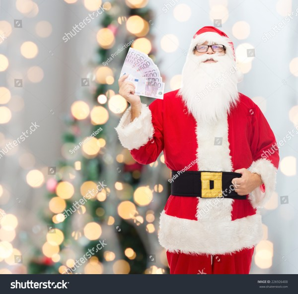 Christmas Holidays Winning Currency People Concept Stock