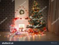 Christmas Living Room Decorations Beautiful Xmas Stock ...
