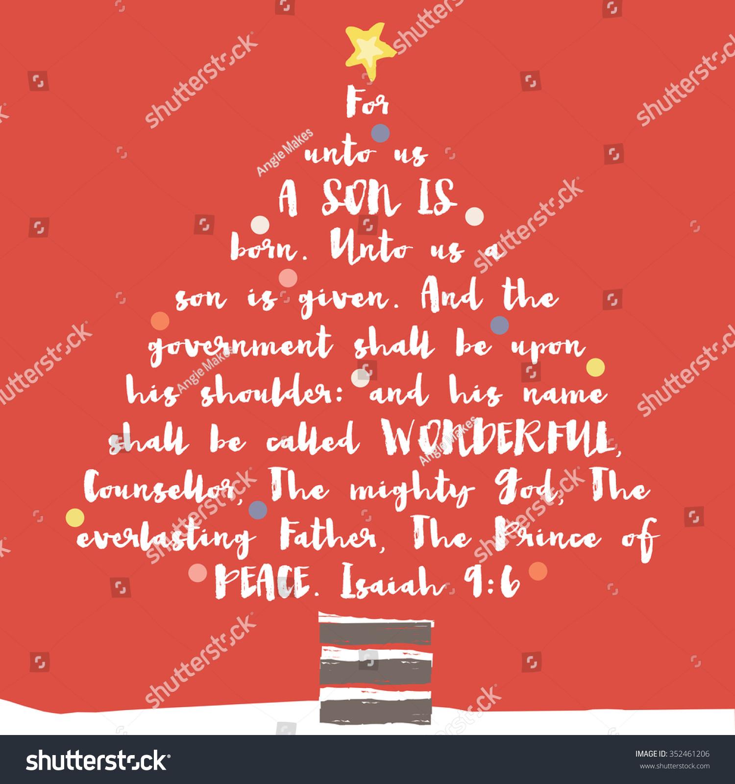 Christmas Tree Bible Verse Christian Bible Stock