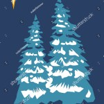 Christmas Tree Retro Colors Scheme Stock Illustration 5204653