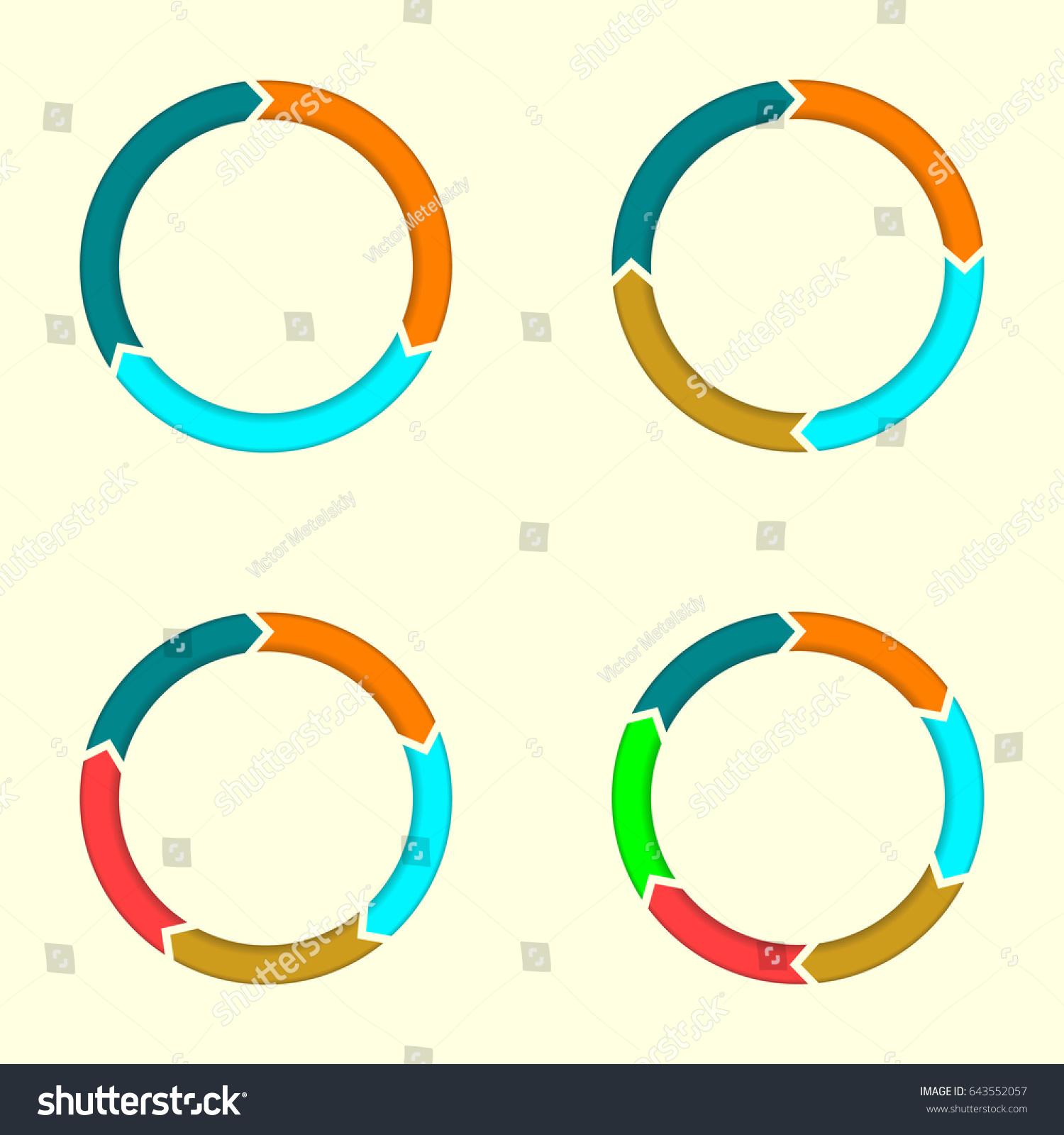 free circular arrow diagram template meyer snow plow wiring e58h arrows set infographics elements 3456 stock