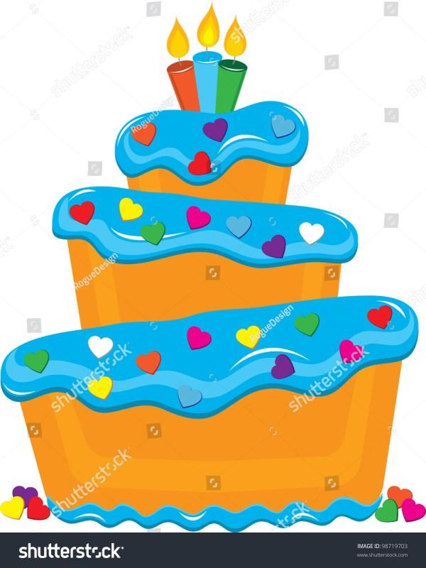 Clip Art Illustration Fancy Layer Cake Stock Illustration