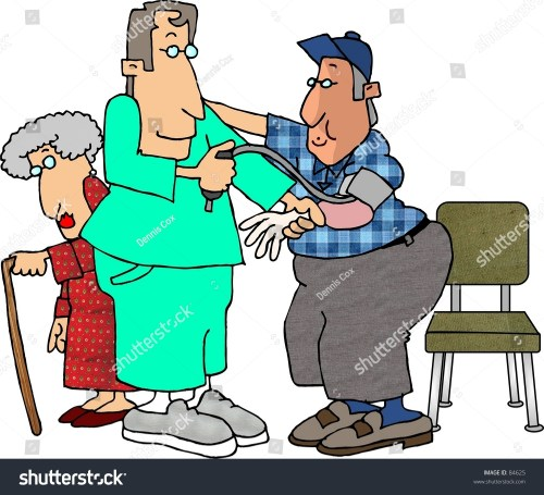 small resolution of clipart illustration of a male nurse checking a man s blood pressure