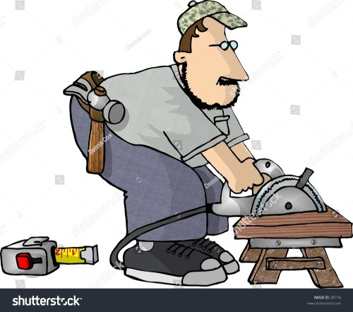 small resolution of clipart illustration of a man cutting wood with a power saw