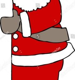 clipart illustration of santa claus peeking around a door  [ 720 x 1600 Pixel ]