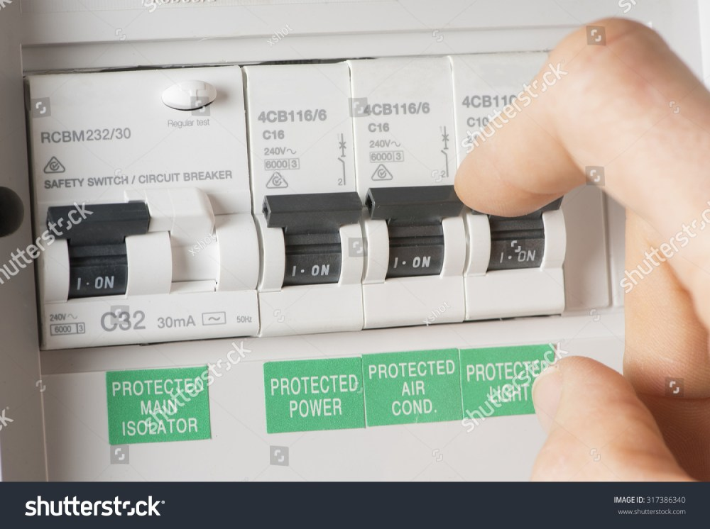 medium resolution of close up of a home fuse box