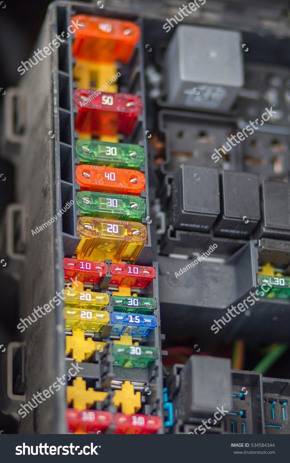 medium resolution of close up view focus of car fuse box control engine lighting of car car