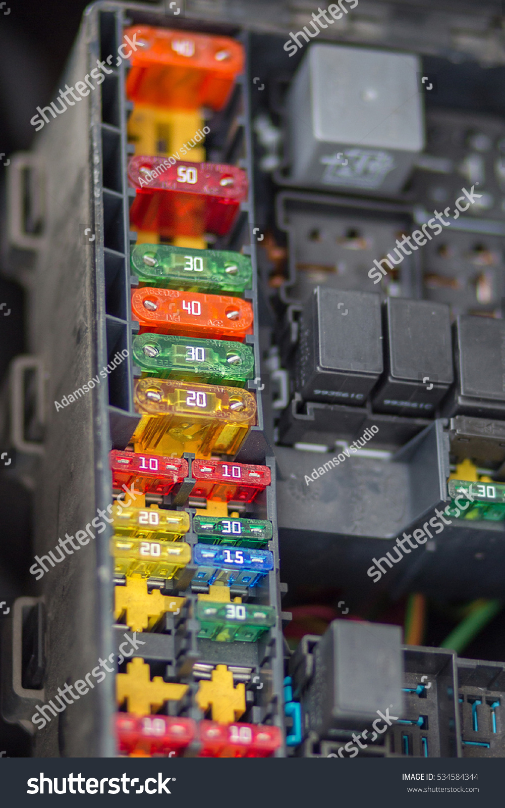 hight resolution of close up view focus of car fuse box control engine lighting of car car