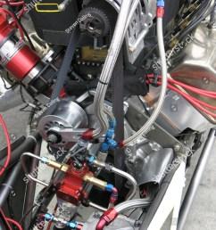 closeup of a top fuel drag car engine  [ 1125 x 1600 Pixel ]