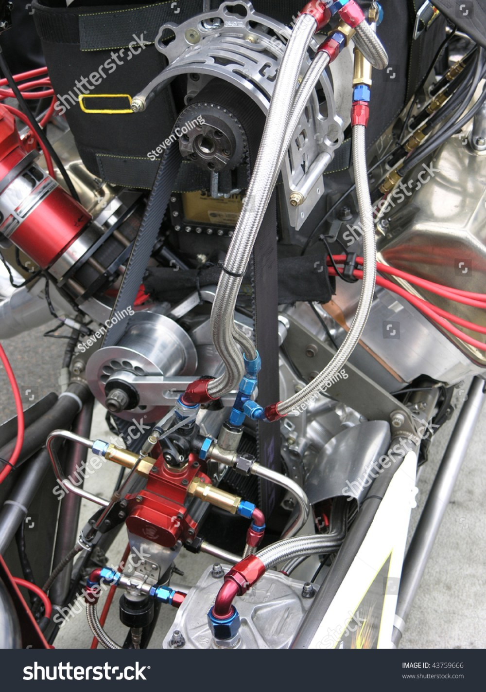 medium resolution of closeup of a top fuel drag car engine