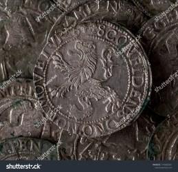 Closeup View Medieval European Silver Coins Stock Photo Edit Now 1145882681