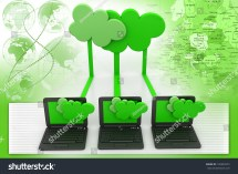 Cloud Computing Devices Stock Illustration 135983372