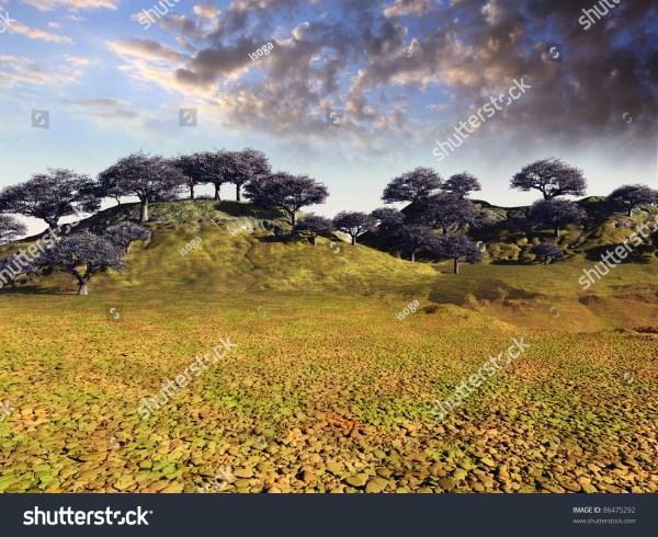 colorful desert landscape stock
