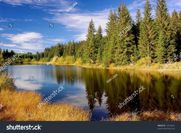 Colorful Mountain Lake Landscape