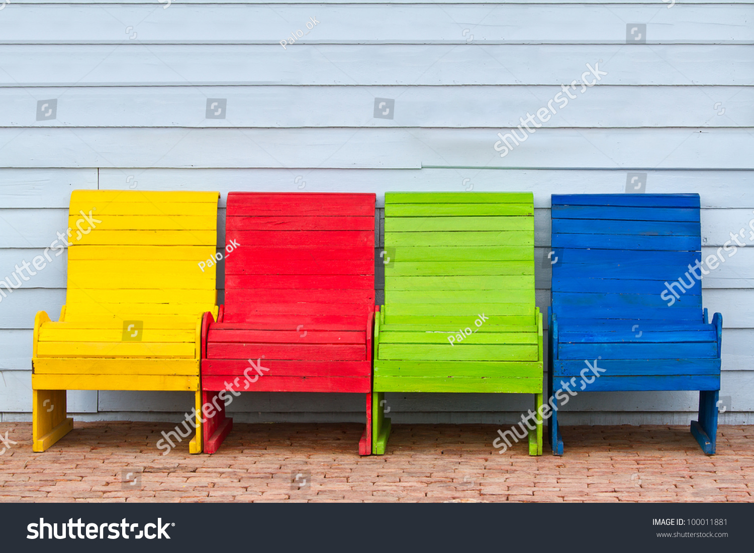 Colorful Wooden Chairs Stock Photo 100011881  Shutterstock