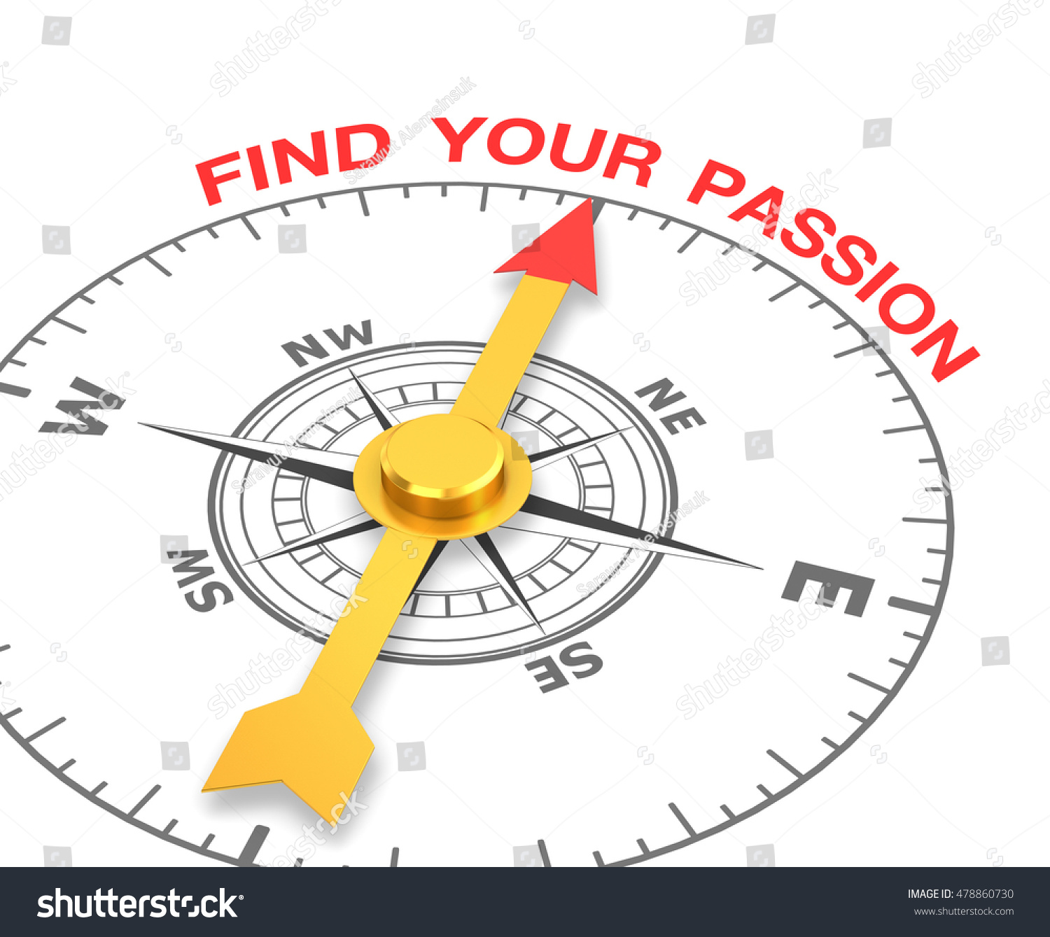 Compass Needle Pointing Word Find Your Stock Illustration