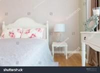 Contemporary Classic Bedroom Apartment Condo Stock Photo ...