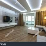 Contemporary Living Room Luxurious Apartment Leather Editar Agora Foto Stock 572990914