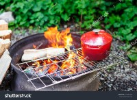 Cooking Over Open Fire Pit Stock Photo 274485446 ...