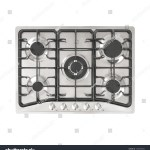 Cooktop Top View Stove Overhead View Stock Illustration 1300946854
