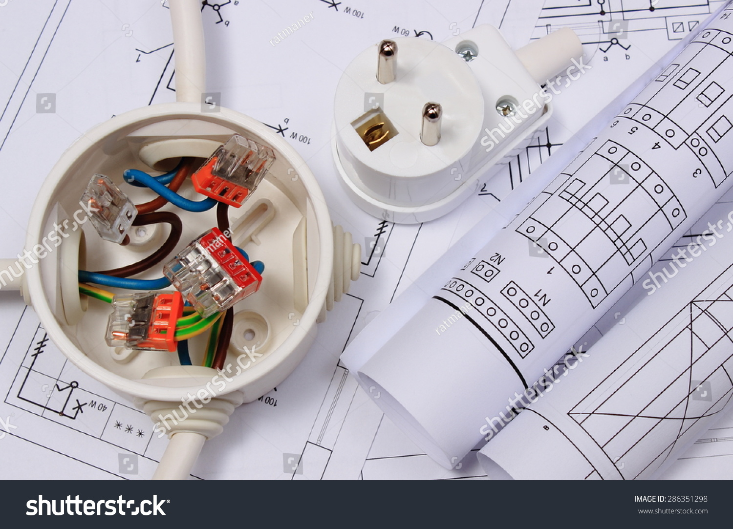 hight resolution of copper wire connections in electrical box rolls of electrical diagrams and electric plug on construction