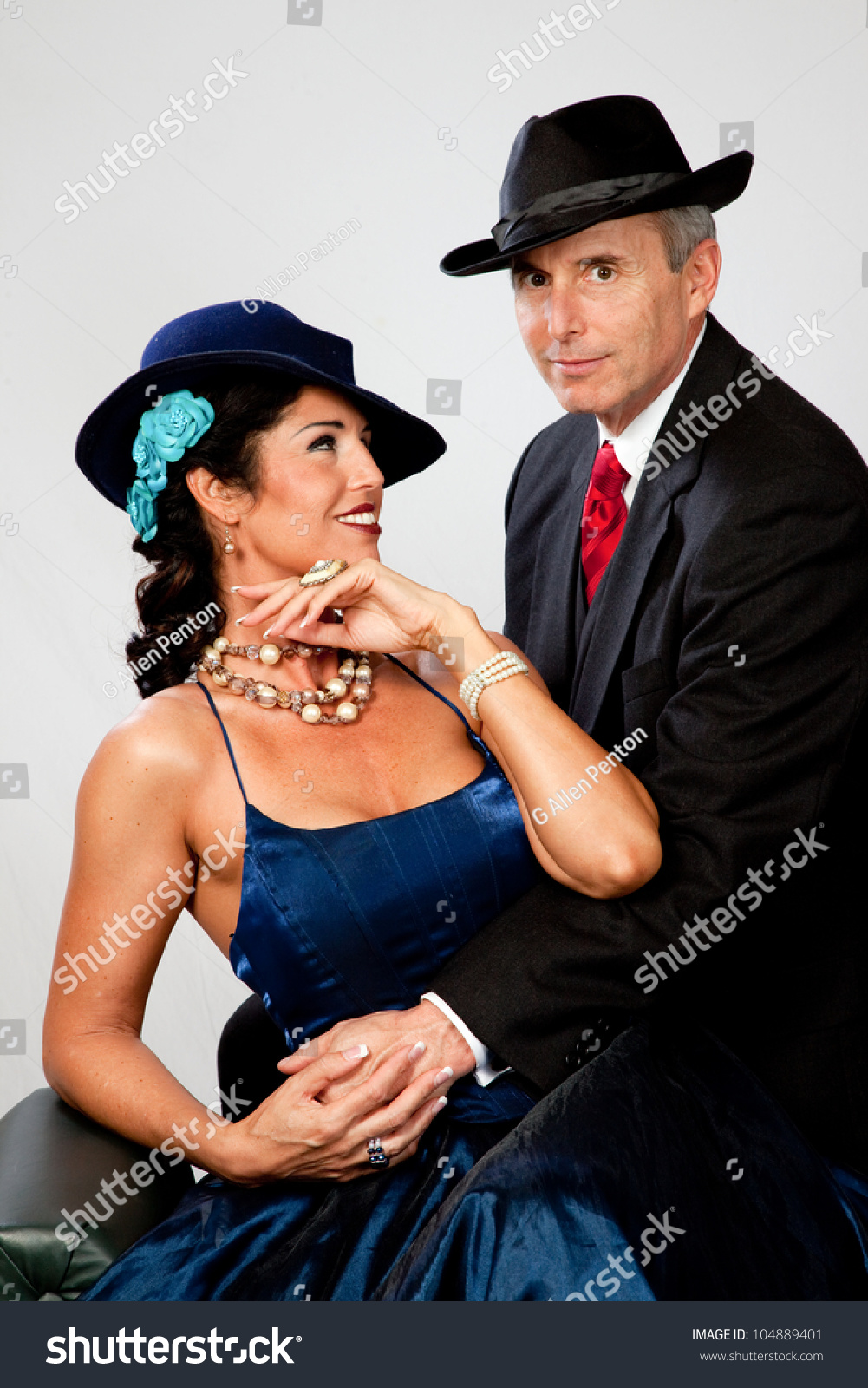 Couple Together In Semi Formal Dress. And A Romantic Mood Stock Photo 104889401 : Shutterstock