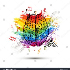 Left Side Brain Functions Diagram Ribu1c Relay Wiring Creative Human Top View Stock Illustration Royalty Free In Of Concept On White