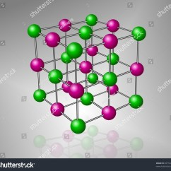 Sodium Atom Diagram Energy Band Of Insulator Crystalline Structure Model Chloride Molecule Stock