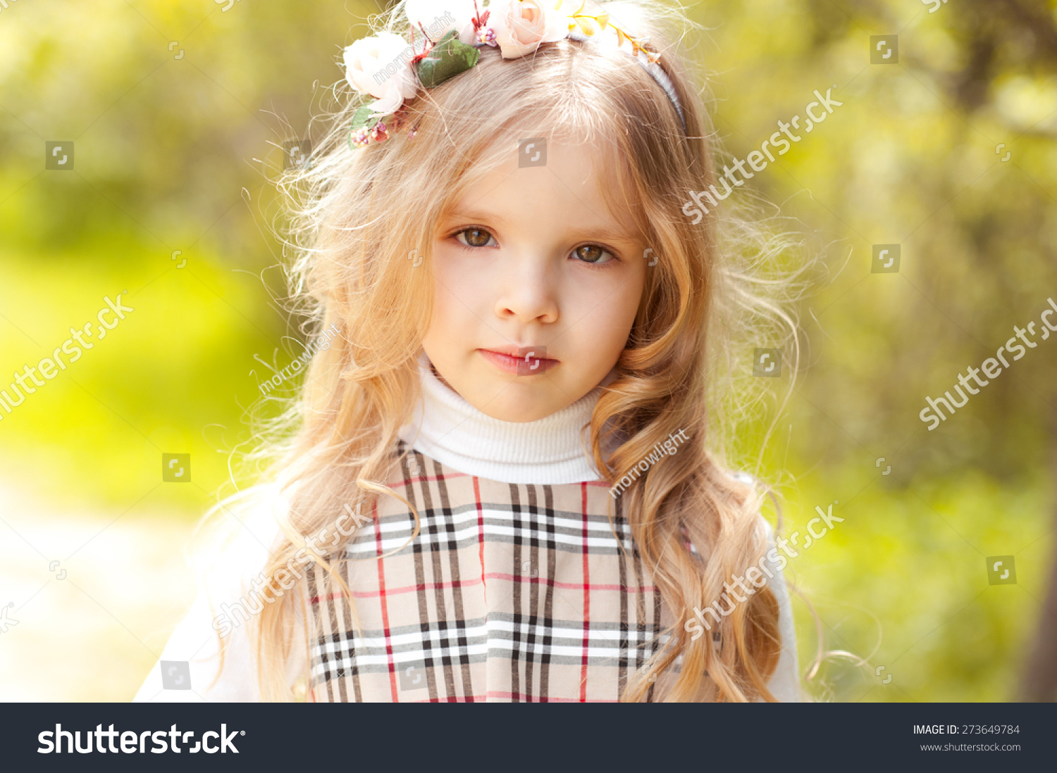 Cute Baby Girl 34 Year Old Stock Photo