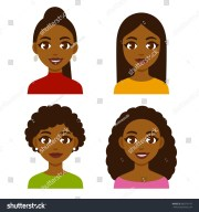 cute cartoon black girls natural