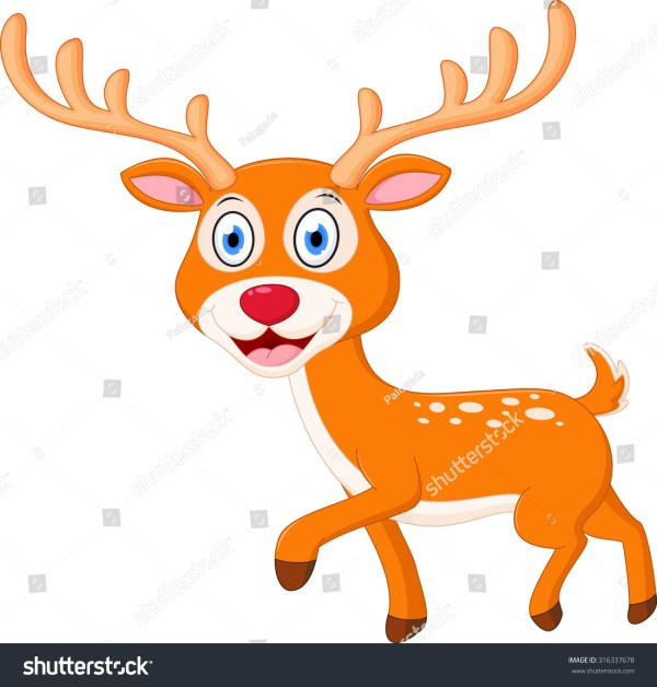 Cute Deer Cartoon Stock Illustration 316337678 - Shutterstock