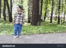 Cute Little Boy Shirt Pants Standing Stock 331584866