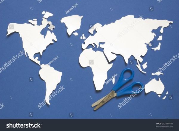 Cutout Map Of The World Stock Photo 27699430 Shutterstock