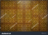 Decorative Background Made Of Ornate Ceramic Tiles Stock ...