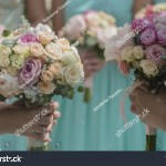 Decorative Beautiful Fresh Wedding Bouquets Colorful Stock Photo Edit Now 302404298
